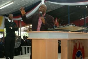 Prophet Adebisi Abiola during his ministration